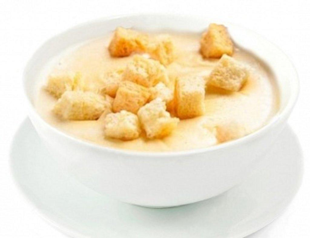 Супы: Сырный крем-суп в КусОk