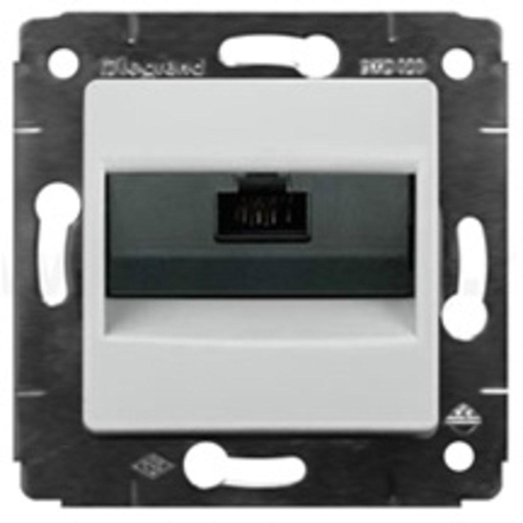 Электроустановочные изделия: L773641 Cariva Розетка  RJ45 UTP c захватами,белая в Электрика