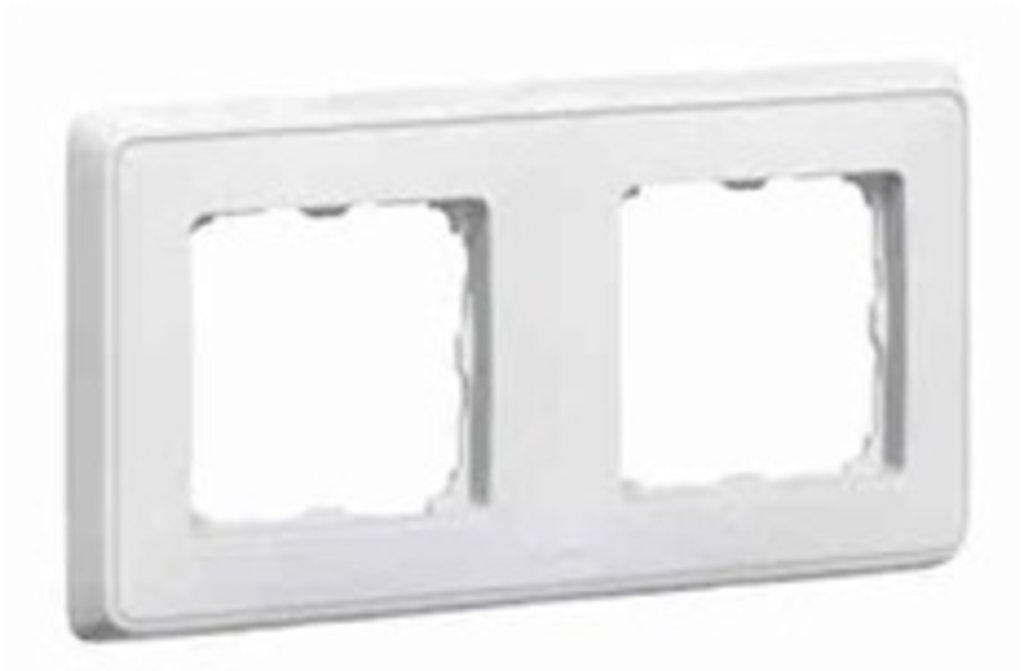 Электроустановочные изделия: L773652 Cariva Рамка 2 пост.,белая в Электрика