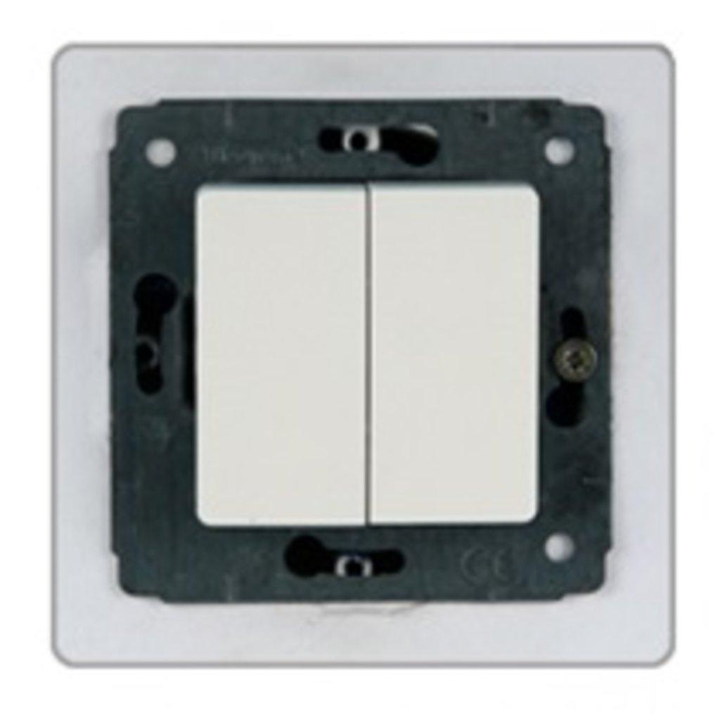 Электроустановочные изделия: L773658 Cariva Выключатель 2кл.,белый в Электрика