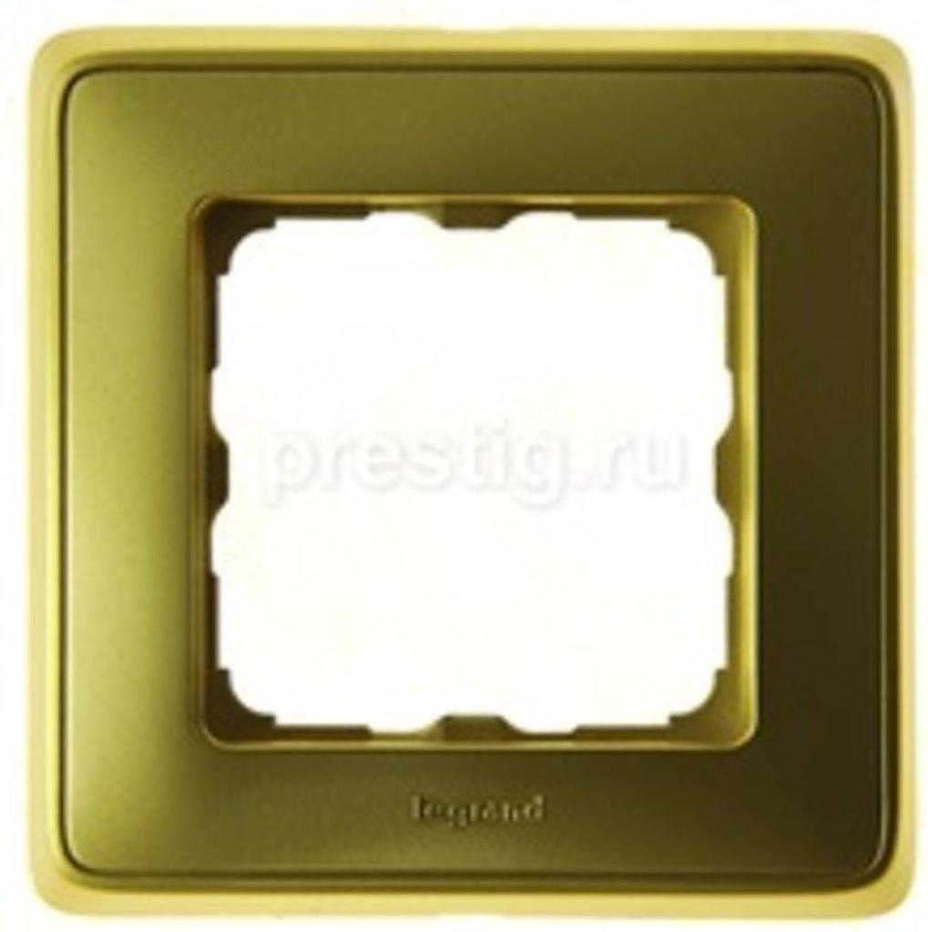 Электроустановочные изделия: L773661 Cariva  Рамка 1 пост. матовое золото в Электрика