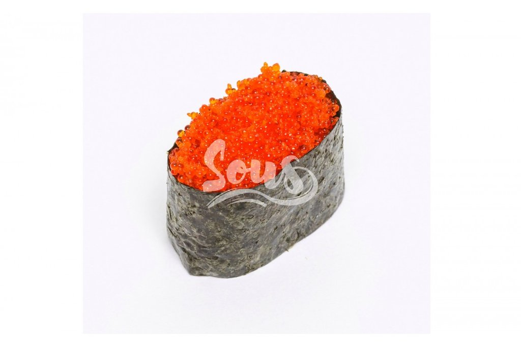 Суши Гунканы Спайси: Тобико оранжевая гункан в Sous (Соус)