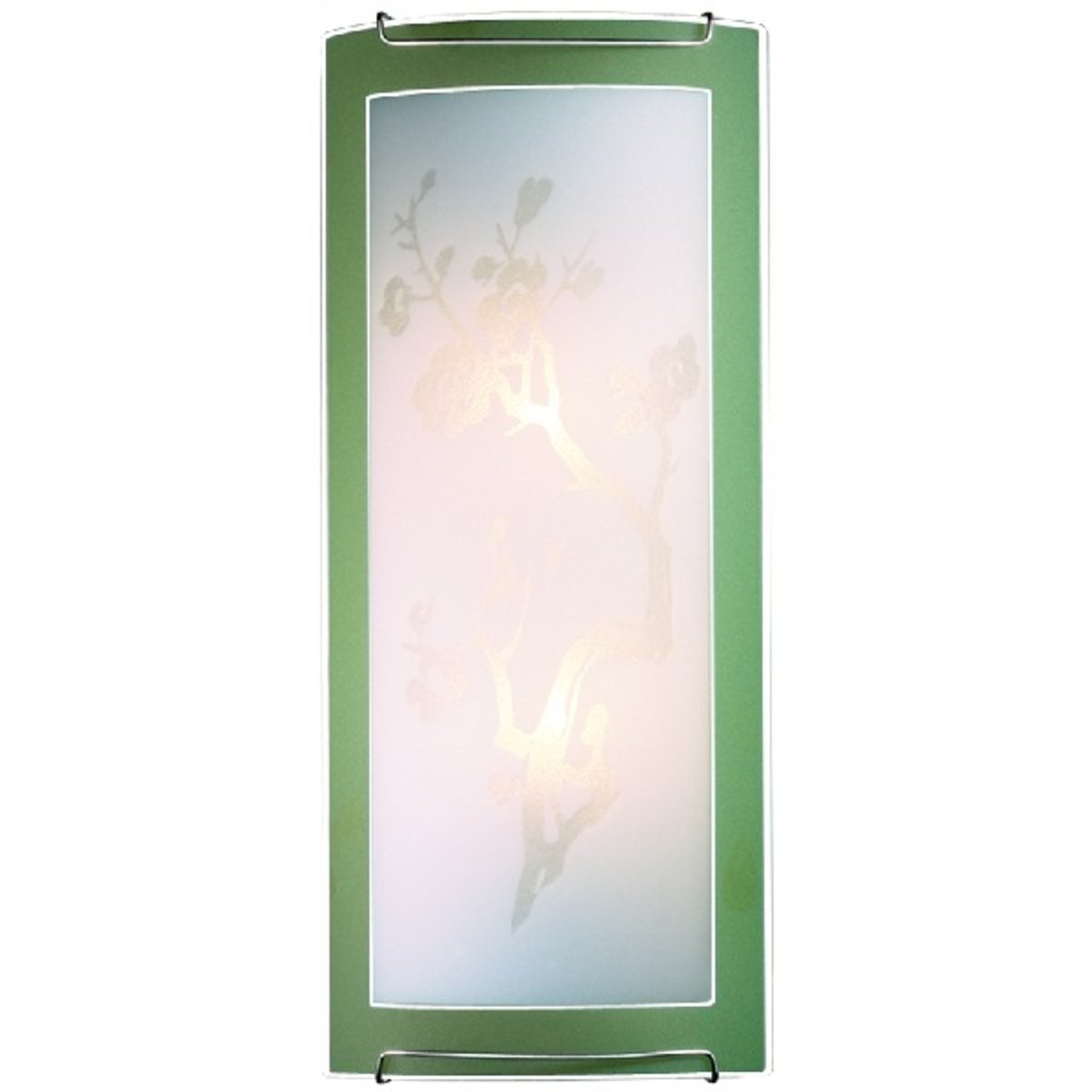 Светильники настенно-потолочные, бра: 1645 FBK11 052 зеленый/хром Бра E14 2*60W SAKURA в Электрика
