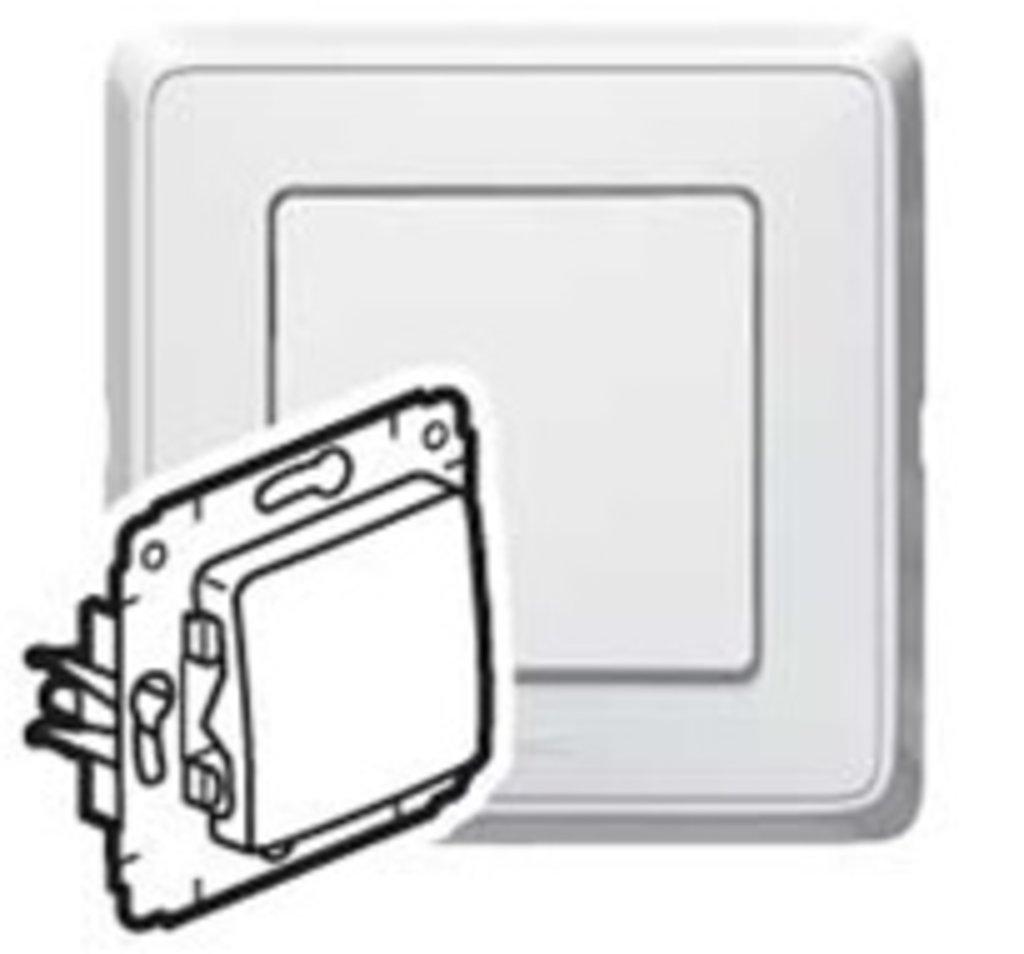 Электроустановочные изделия: L773600 Cariva Выключатель 16А,белый в Электрика