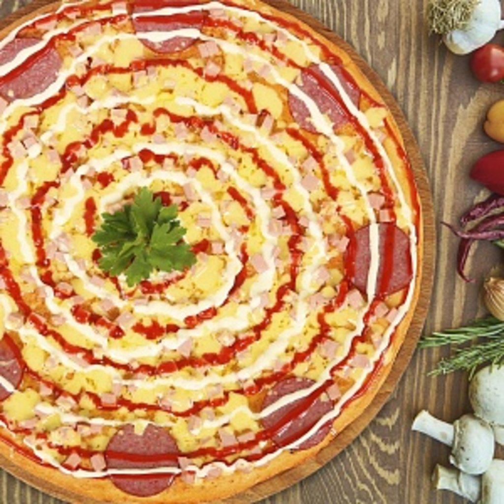 Пицца: С колбасой в КусОk