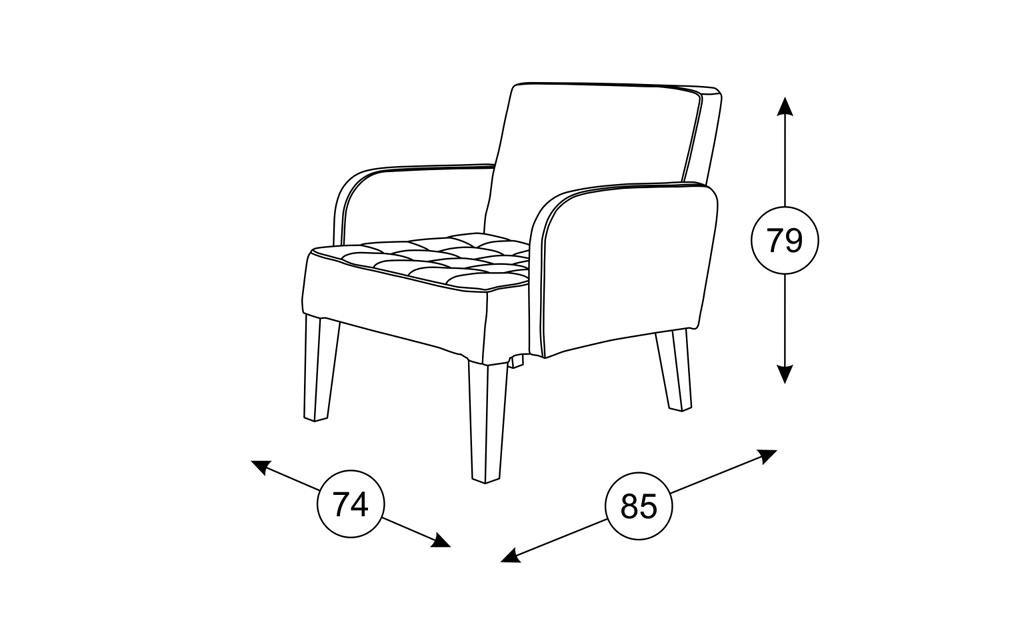 Кресла Квадро: Кресло Квадро ТК 963 в Диван Плюс