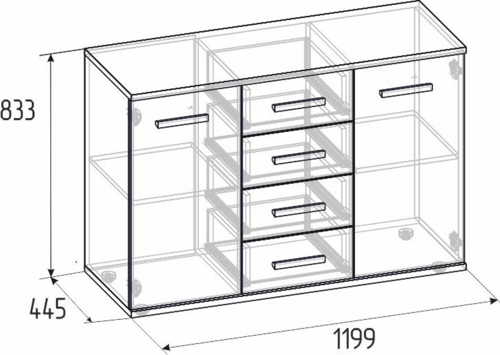 Этажерки и тумбы: Тумба МЦН Норвуд 5 в Стильная мебель