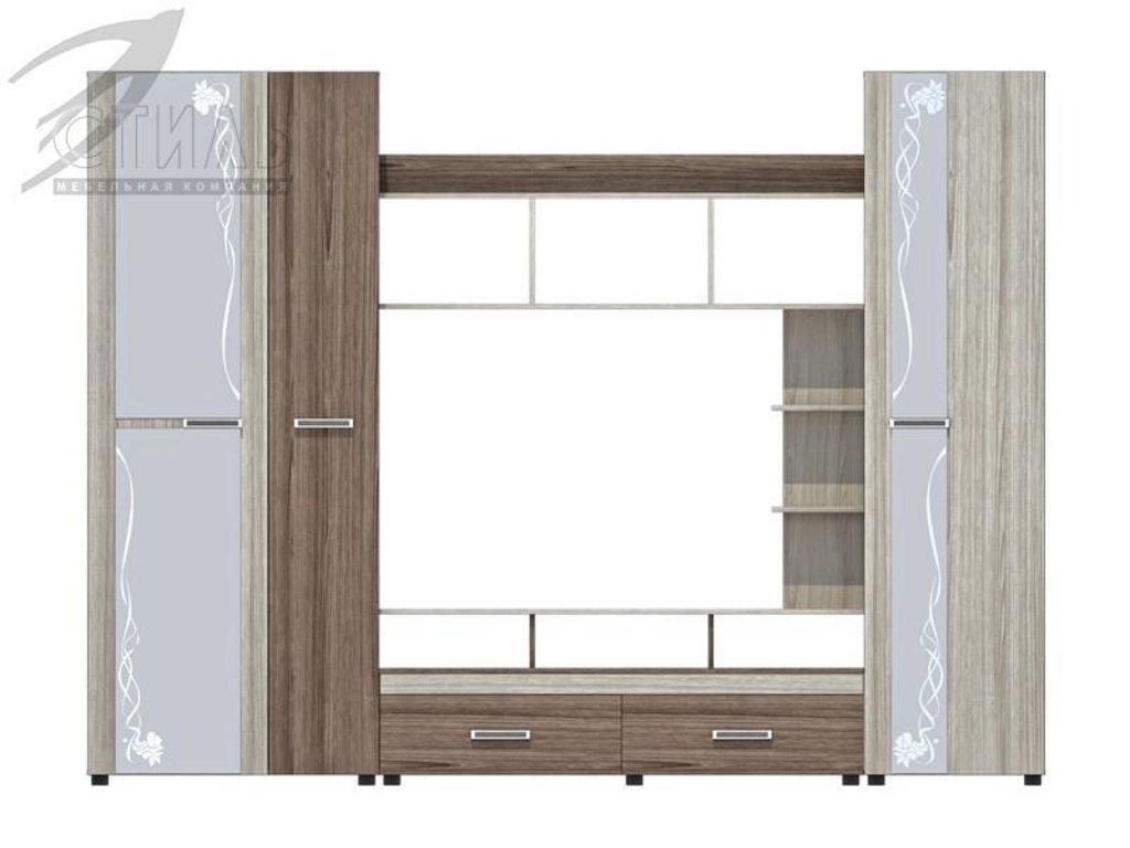 Гостиные: Мебель для гостиной Атлантида-3(А) (шимо темный / шимо светлый) в Диван Плюс