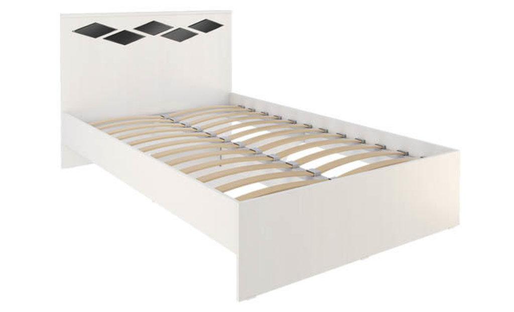 Кровати: Кровать Диана 4 (1200, орт. осн., металл) в Стильная мебель
