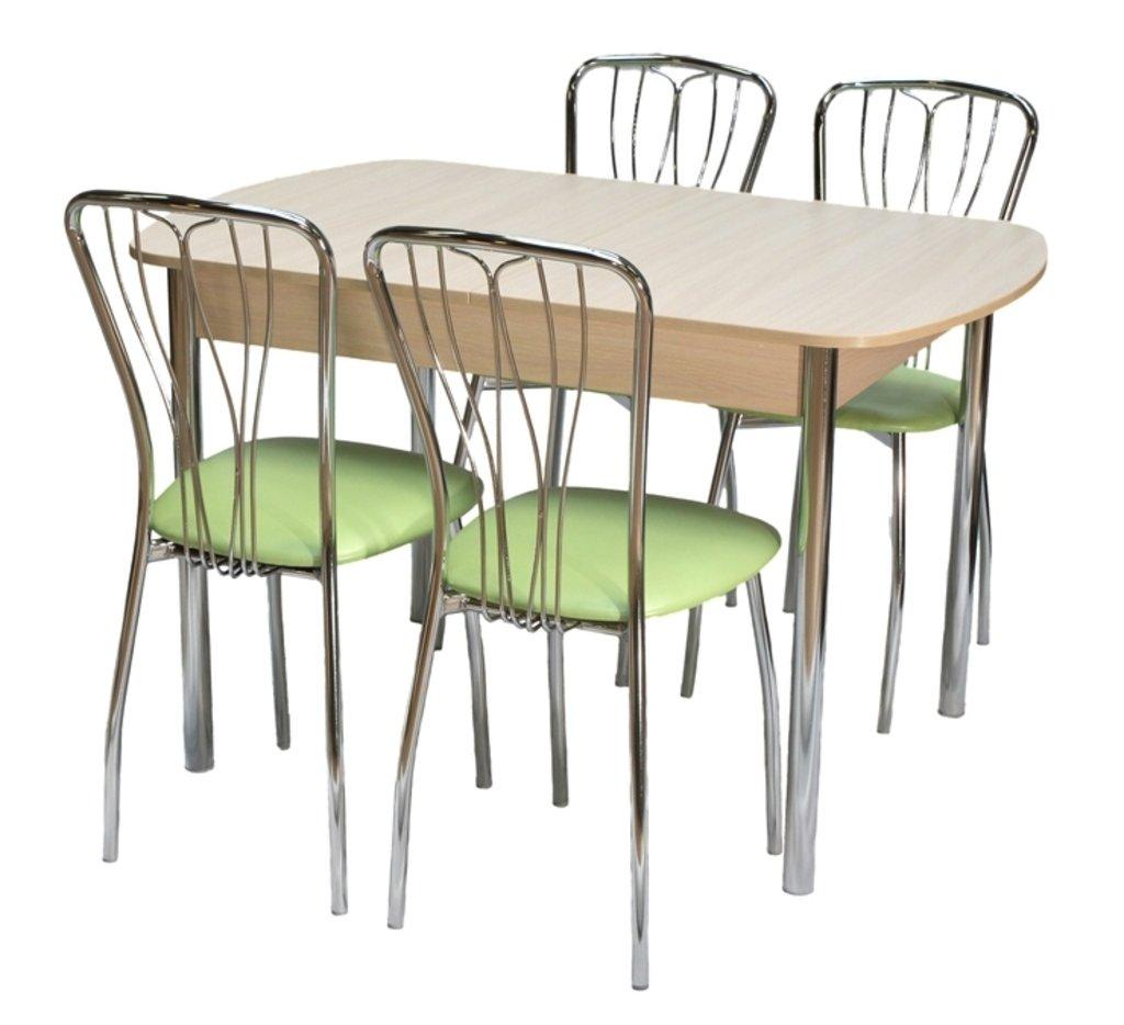Столы кухонные.: Стол ПГ-17 раздвижной с вкладышем (хром) в АРТ-МЕБЕЛЬ НН