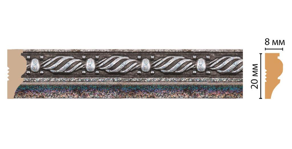 Молдинги: Цветной молдинг Decomaster 103-29 (20*8*2400) в Мир Потолков