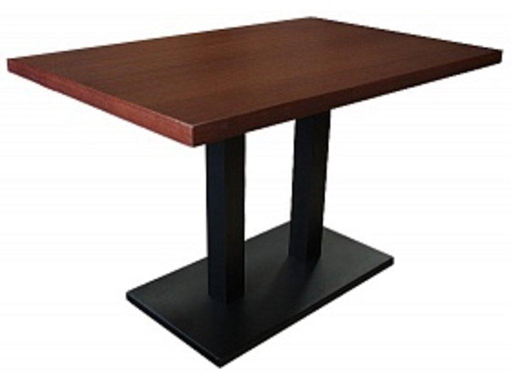 Столы для ресторана, бара, кафе, столовых.: Стол прямоугольник 1200х800, подстолья 01 R-80 чёрная в АРТ-МЕБЕЛЬ НН