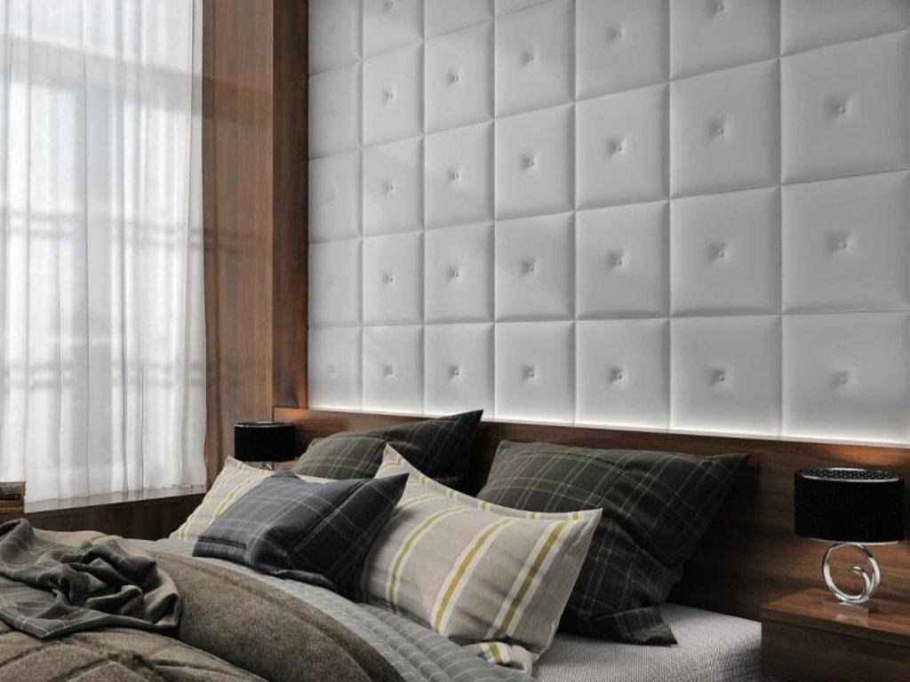 Кожаные стеновые панели: Кожаная 3D панель Cheri в Мир Потолков