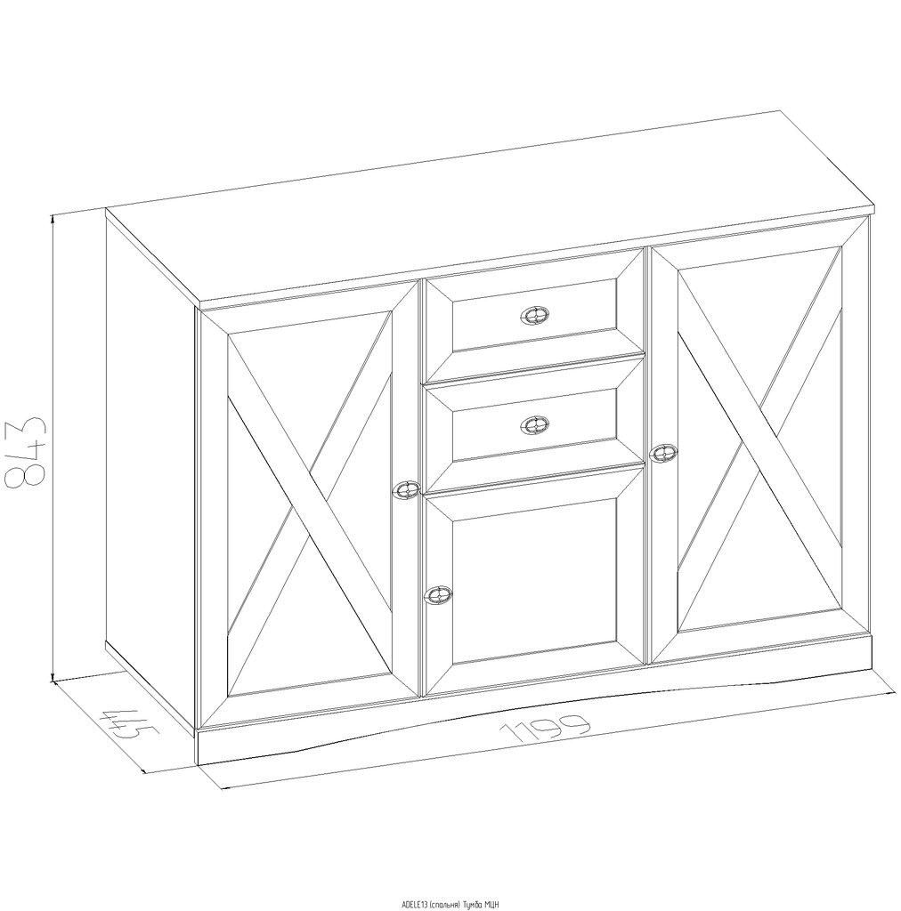 Этажерки и тумбы: Тумба МЦН ADELE 13 в Стильная мебель