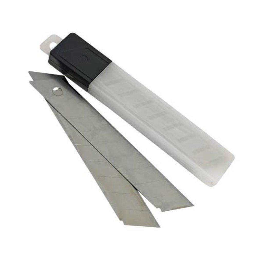 Ножи канцелярские, резаки, ножницы: Лезвия для ножа 18мм/10шт 18170 Комус в Шедевр, художественный салон
