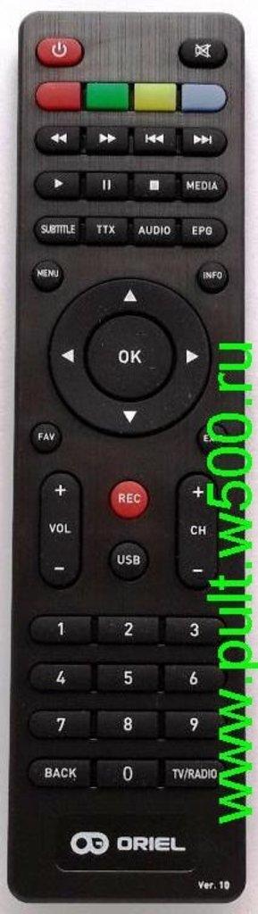 Для ORIEL: Пульт ORIEL ПДУ-10HD (DVB-T2) оригинал в A-Центр Пульты ДУ