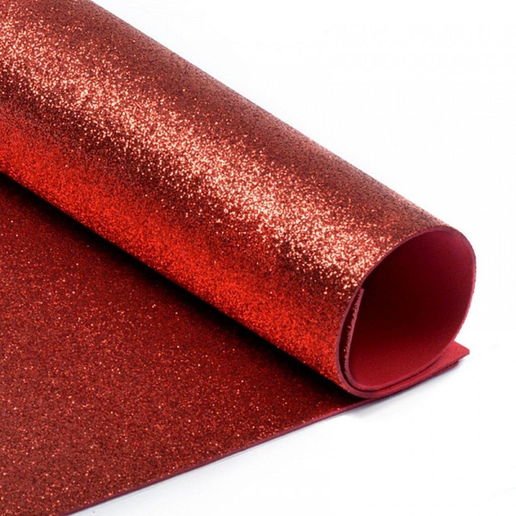 Фоамиран: Фоамиран глиттерный 2мм 20*30см красный, 1 лист в Шедевр, художественный салон