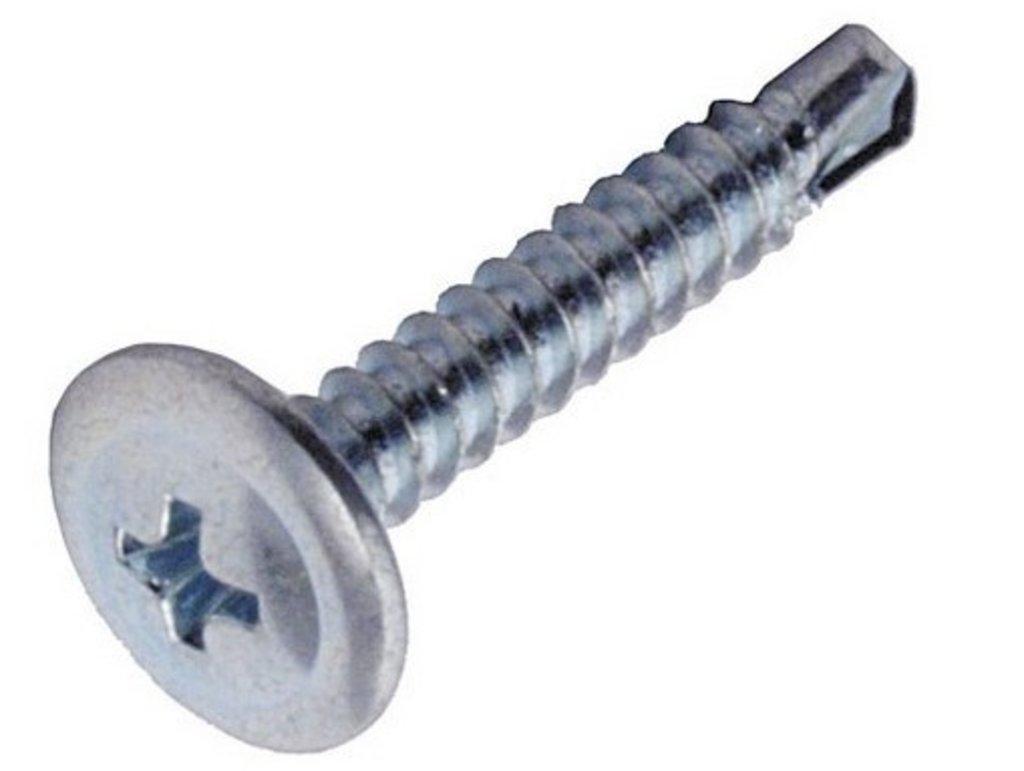Саморезы: Саморез 4,2*13 прессшайба цинк со сверлом 100 шт пакет zip lock в АНЧАР,  строительные материалы