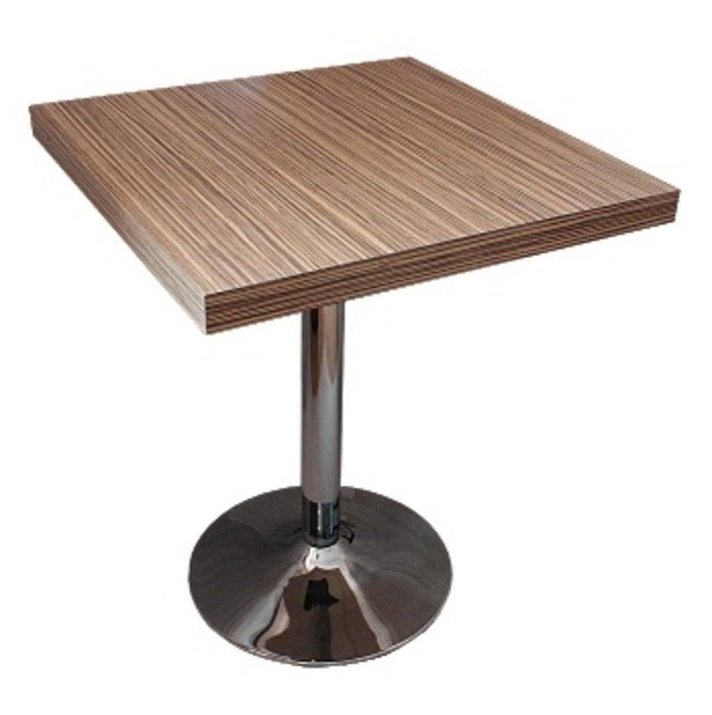 Столы для ресторана, бара, кафе, столовых.: Стол квадрат 800х800, подстолья 1005 ЕМ хром в АРТ-МЕБЕЛЬ НН