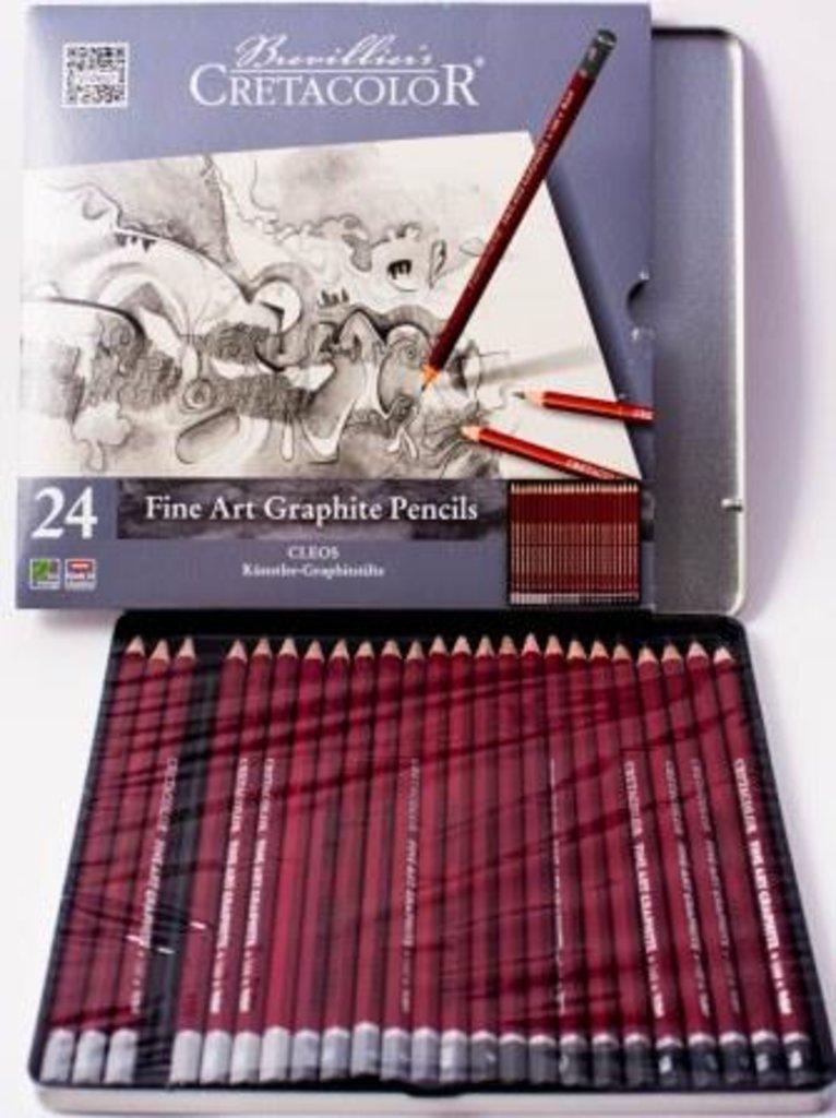Чернографитные карандаши: Набор профессиональных чернографитных карандашей Cleos Cretacolor 24шт в Шедевр, художественный салон