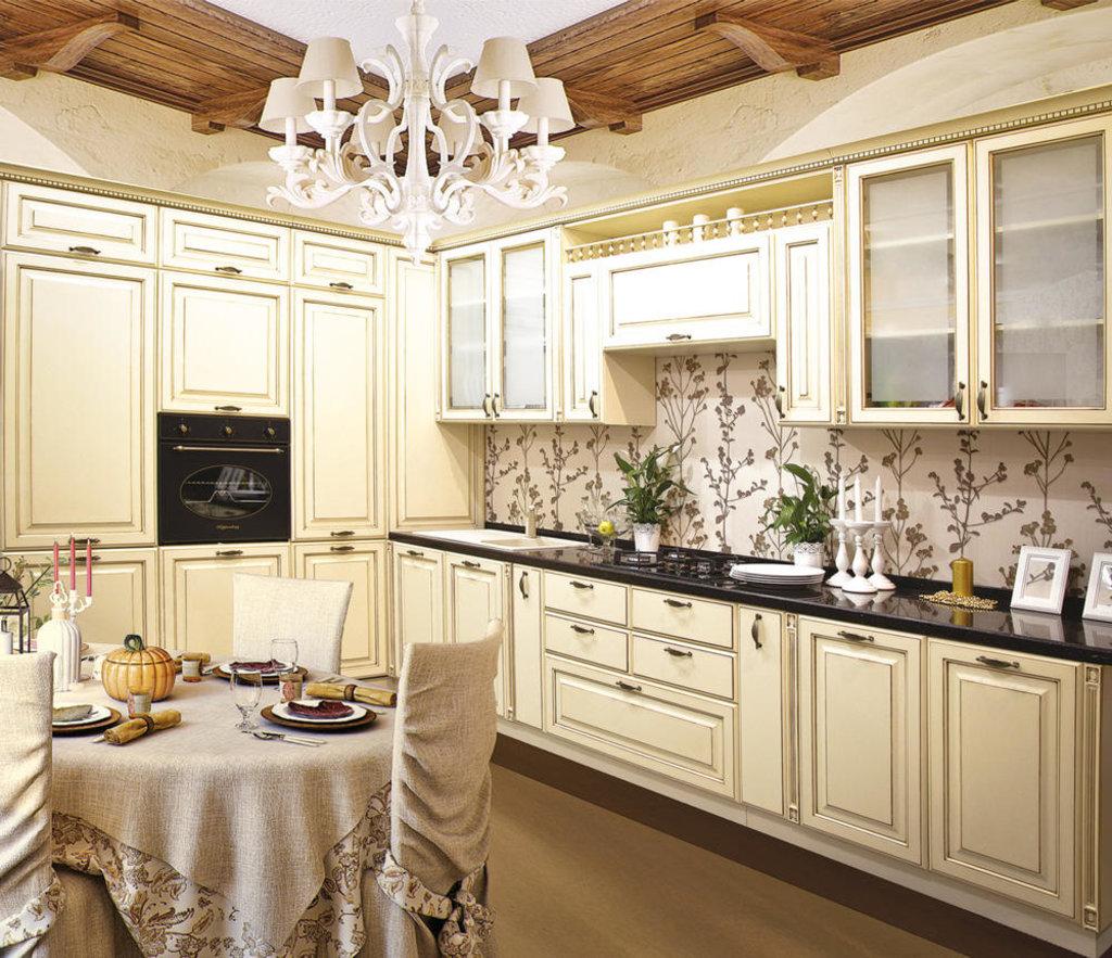 Кухни: Кухня Париж №1 (патина темная) в Стильная мебель