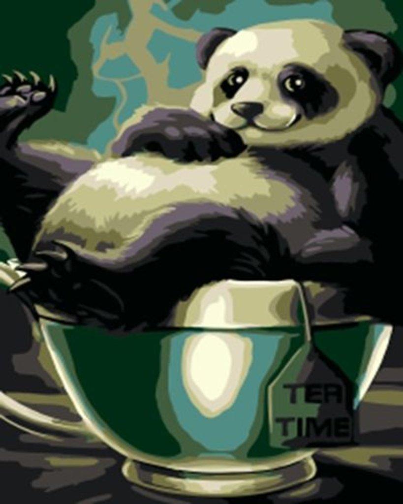Картины по номерам: Картина по номерам Paintboy 20*30 OKS1007 Толстый панда в Шедевр, художественный салон