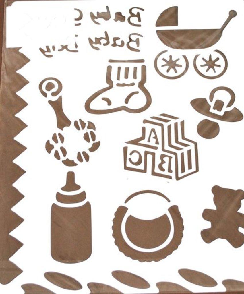 Трафареты: Трафарет пластик. 25х22см Новорожденный в Шедевр, художественный салон