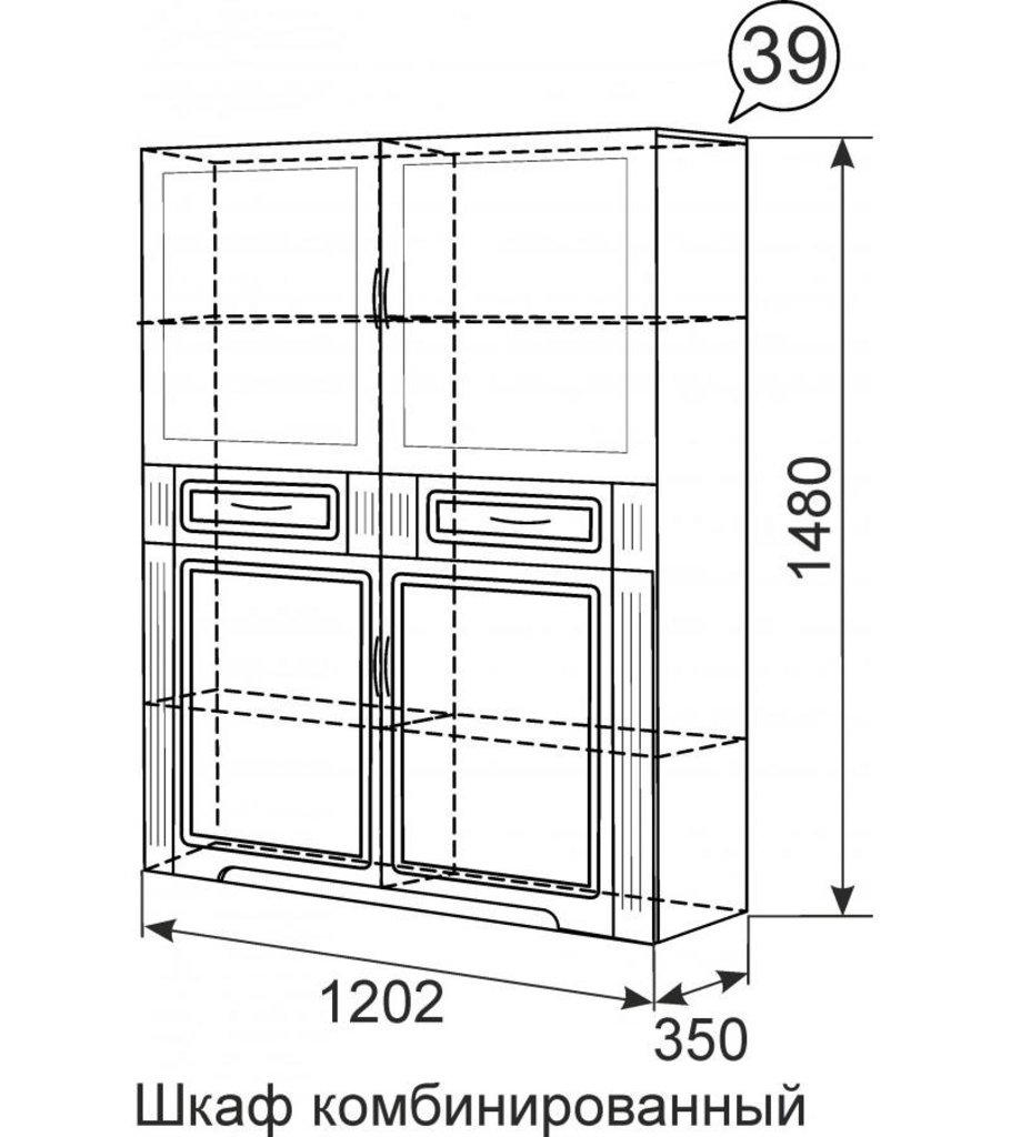Шкафы, общие: Шкаф комбинированный 39 Виктория в Стильная мебель