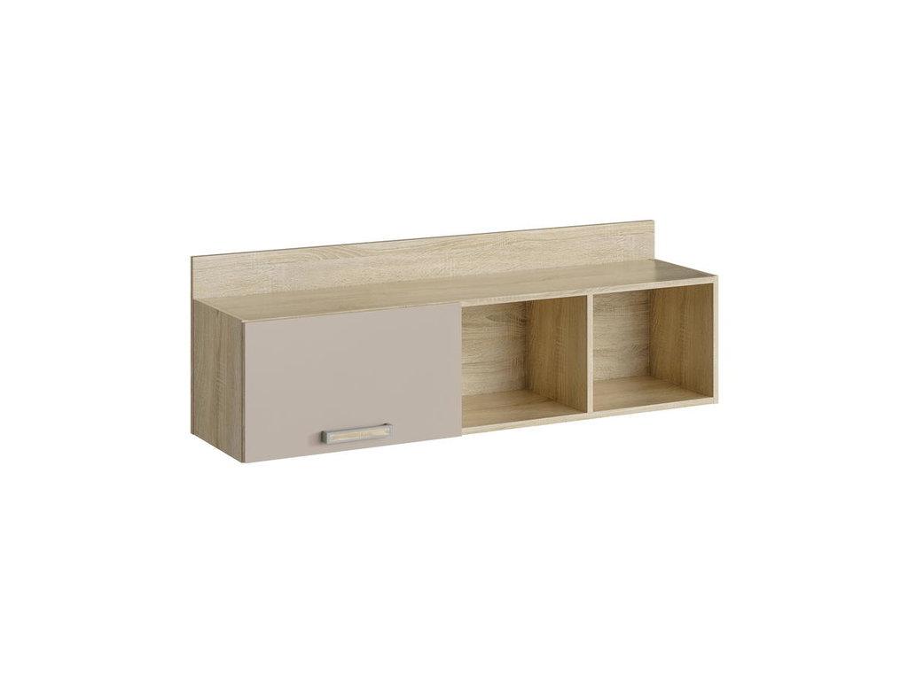 Полки детские: Полка с дверкой НМ 011.38-01 М Акварель в Стильная мебель