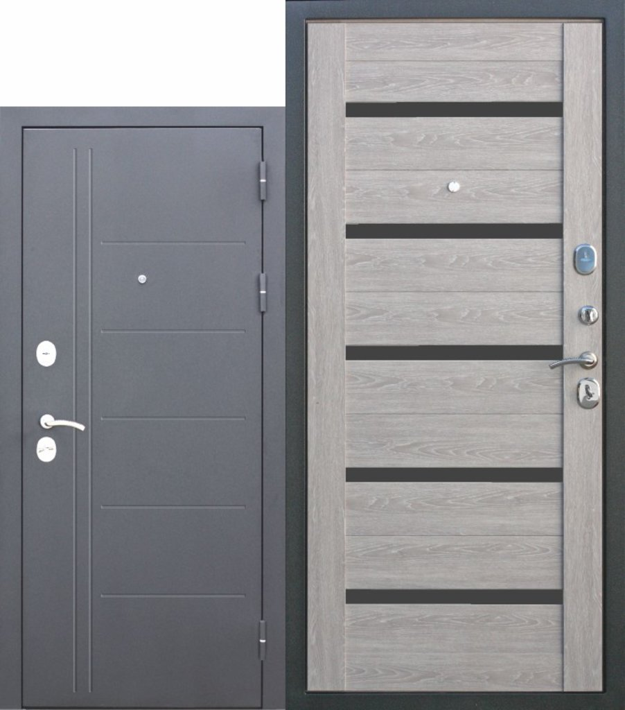 Двери завода Феррони: 10 см Троя Серебро Дымчатый дуб в Модуль Плюс