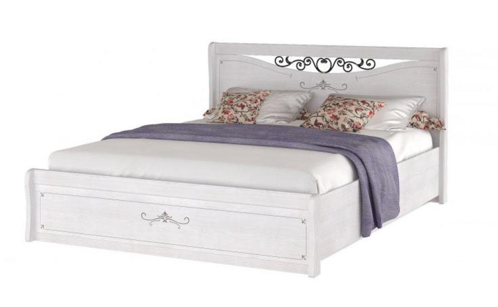 Кровати: Кровать двуспальная с ковкой Афродита (1600, орт. осн. дерево) в Стильная мебель
