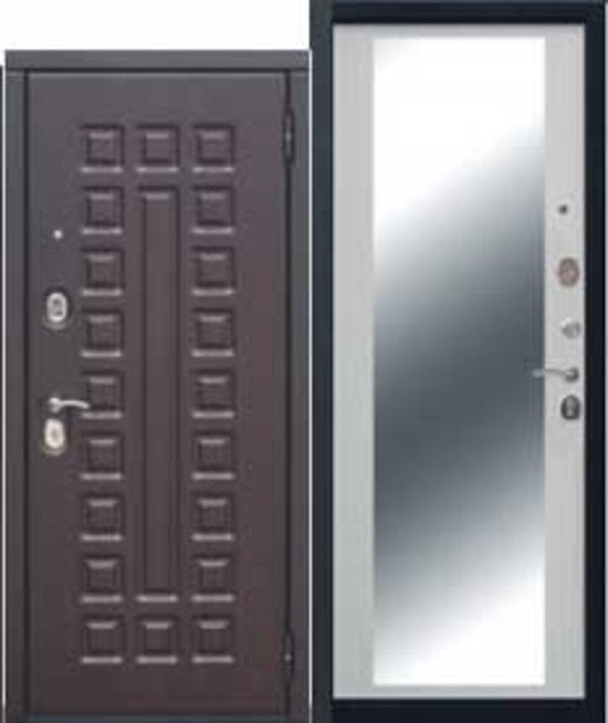Двери завода Феррони: Монарх Зеркало МДФ/МДФ Венге/Белый ясень Зеркало в Модуль Плюс
