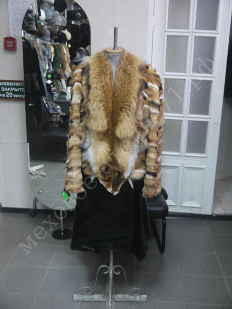 Индивидуальный пошив: Куртка комбинированная из лапок лисы с цельной лисой в Молодость