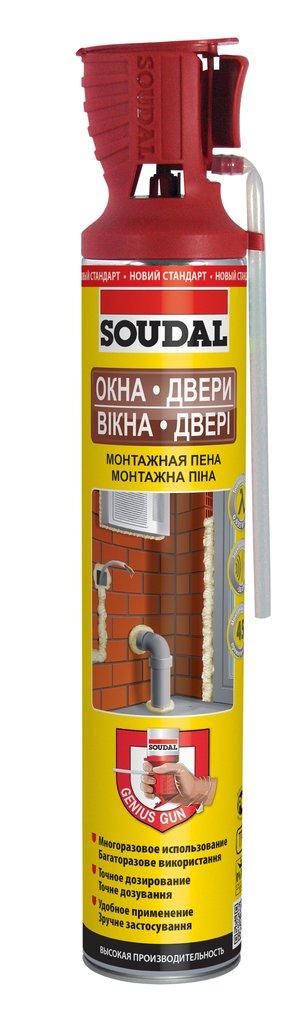 Пены и герметики: Пена монтажная проф. SOUDAL GENIUS GUN лето 750мл в АНЧАР,  строительные материалы