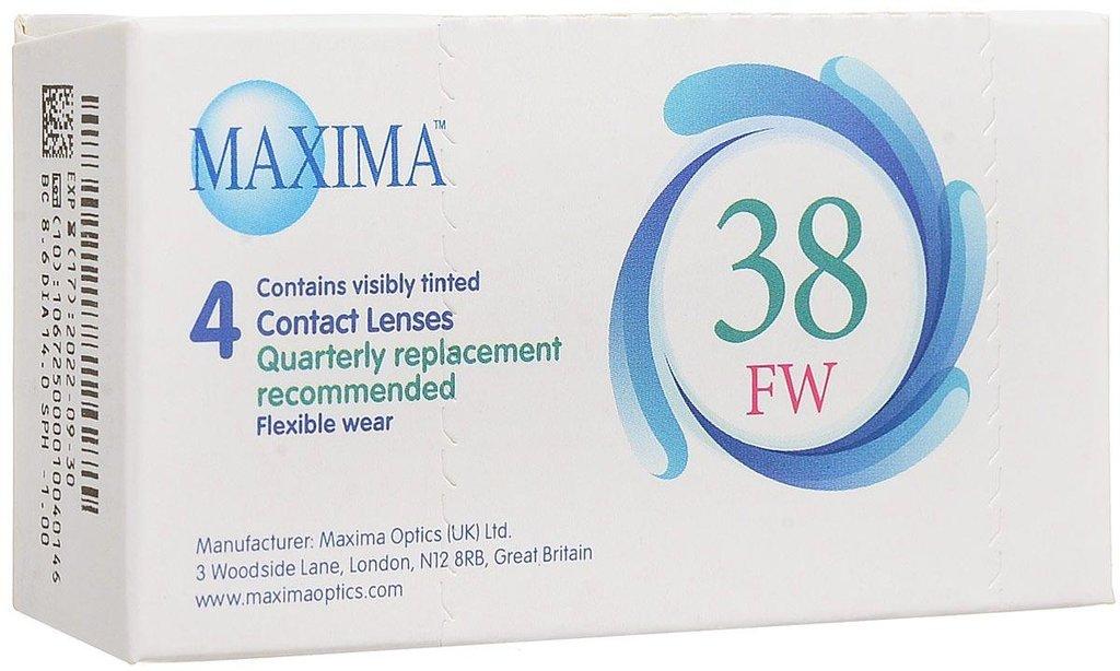 Контактные линзы: Контактные линзы 38 FW (4 шт / 8.6) Maxima в Лорнет