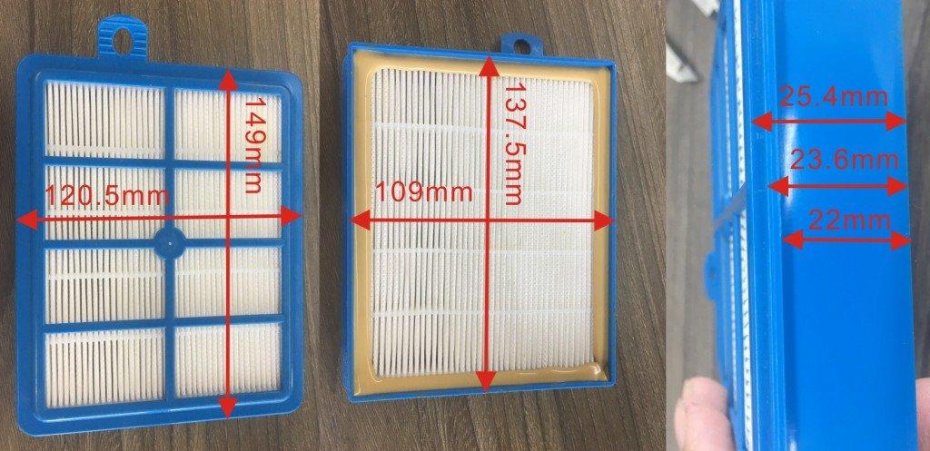 Запчасти для пылесосов: HEPA фильтр для пылесоса Electrolux, Philips, Bork, H12 (109x138x24mm), EFH12w, VAC300ZN, 49FA002, 9001677682, 9001951194 в АНС ПРОЕКТ, ООО, Сервисный центр
