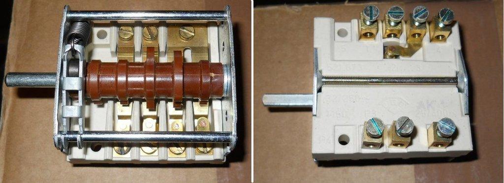 Запчасти для плит и духовых шкафов: Переключатель мощности для промышленных электроплит 32A/250v AK-14, 0410, EGO 43.24232.000, C00377511, 481227328237 в АНС ПРОЕКТ, ООО, Сервисный центр