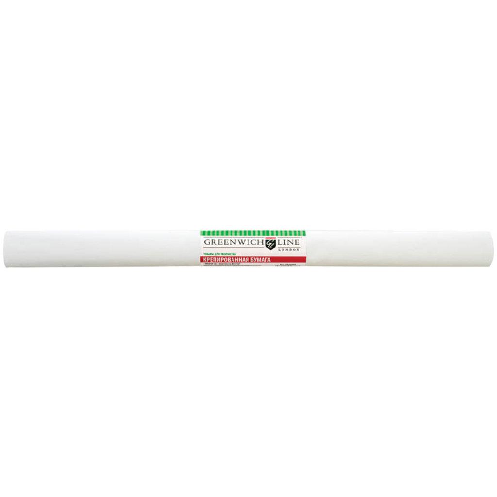 Бумага крепированная цветная: Бумага креп. Greenwich Line,50*250см,32г/м2, белая в рулоне GR25088 в Шедевр, художественный салон