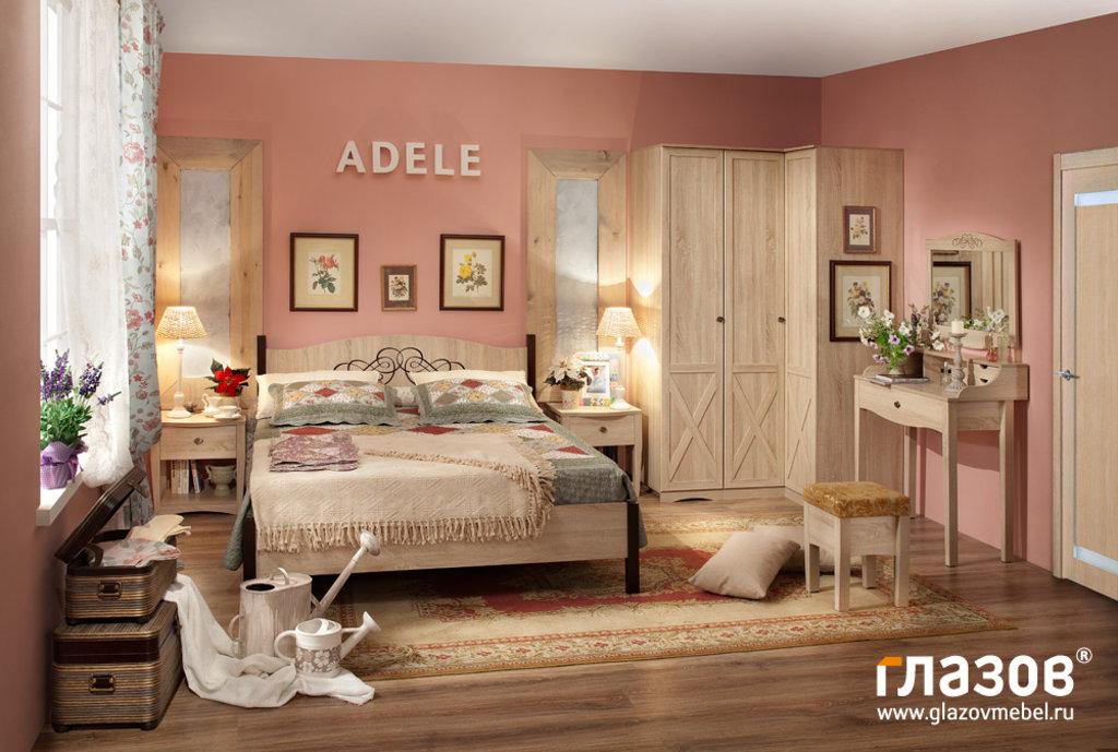Кровати: Кровать ADELE 3 (1400, орт. осн. металл) в Стильная мебель