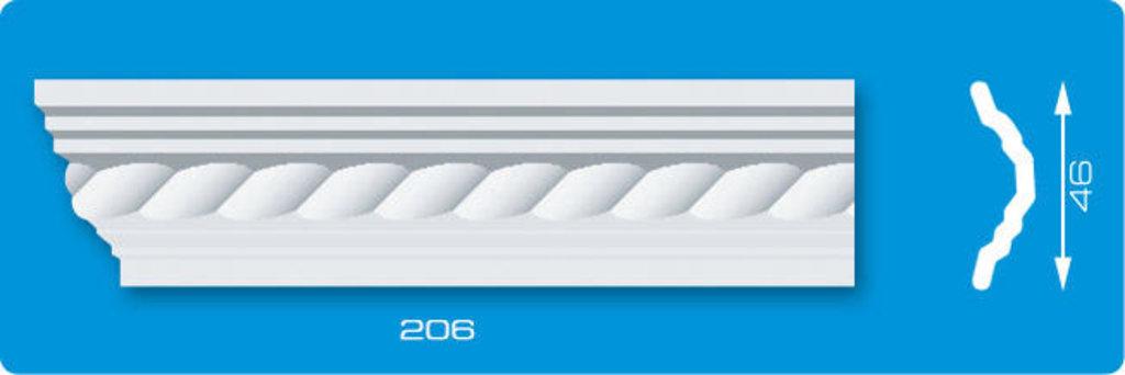 Плинтуса потолочные: Плинтус потолочный ЛАГОМ Ламинированный 206 экструзионный длина 2м в Мир Потолков