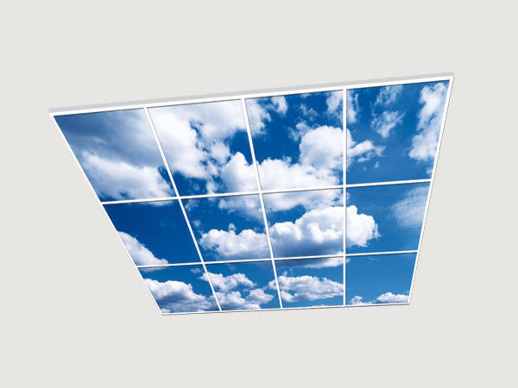 Витражные (стеклянные) потолки: Серия «Небо» в Мир Потолков