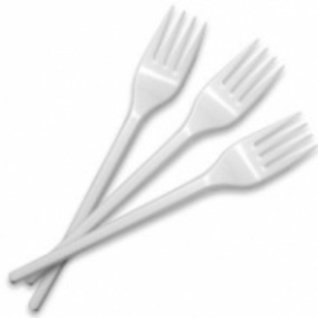 Одноразовая посуда: ВИЛКА 145ММ /ВЛОЖЕНИЕ 100 ШТ в ТСК+, ООО