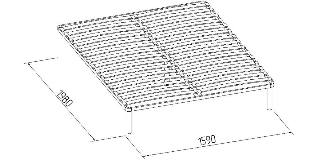Кровати: Кровать Бриз 32 (1600, орт. осн.  металл) в Стильная мебель