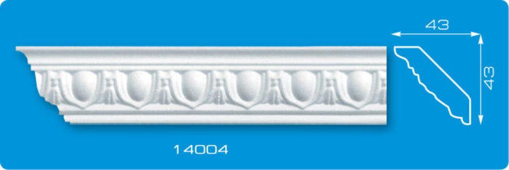 Плинтуса потолочные: Плинтус потолочный ФОРМАТ 14004 инжекционный длина 1,3м, средний в Мир Потолков