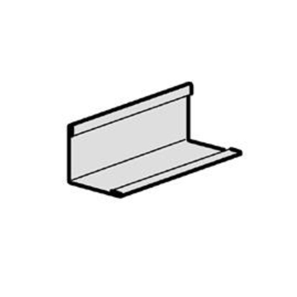 Подвесные системы: Угловой пристенный молдинг 19 x 24*3000, окрашенный, сталь в Мир Потолков
