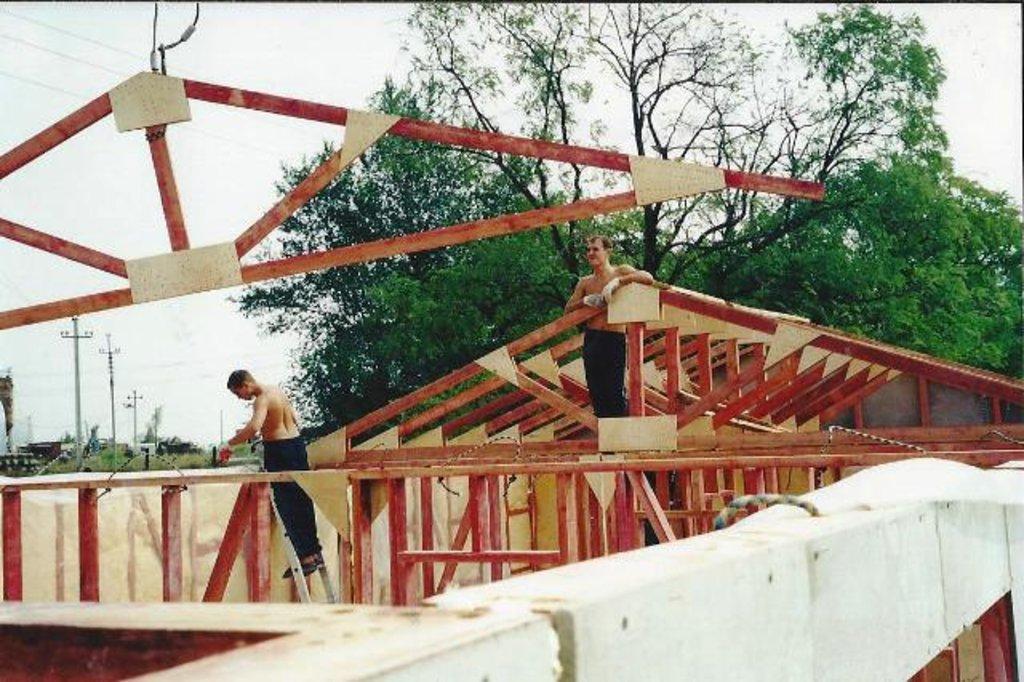 Кровельные работы: Стропильные конструкции в ДомКаркас