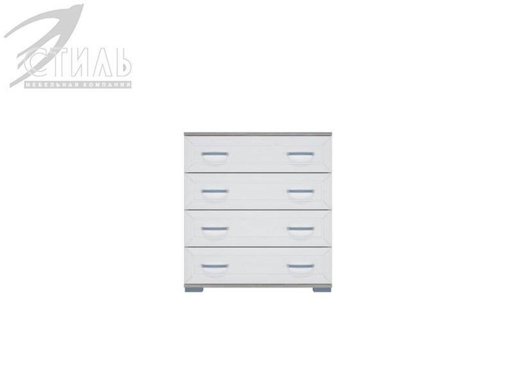 Комоды: Комод МДФ №2 (Ясень шимо светлый / Белый металлик) в Диван Плюс