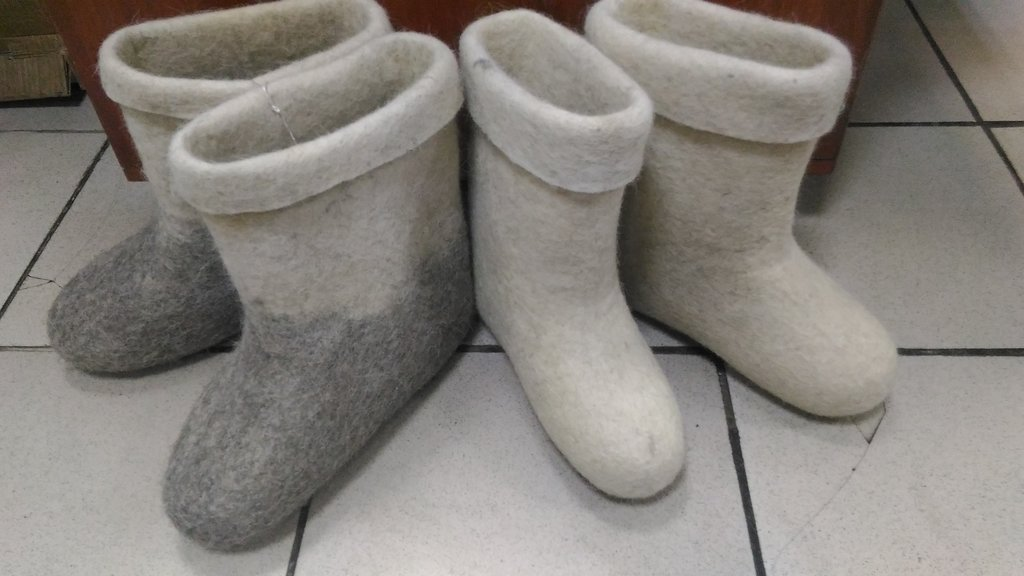 Унты, валенки, чуни мужские: Полуваленки (белые и комбинированные) в Сельский магазин