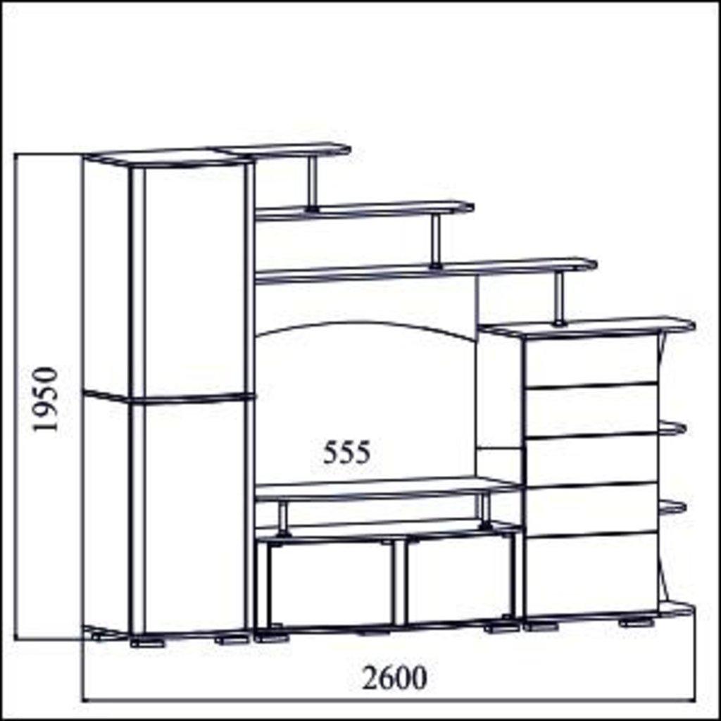 Мебель для гостиной Нота-16: Мебель для гостиной Нота-16 в Диван Плюс