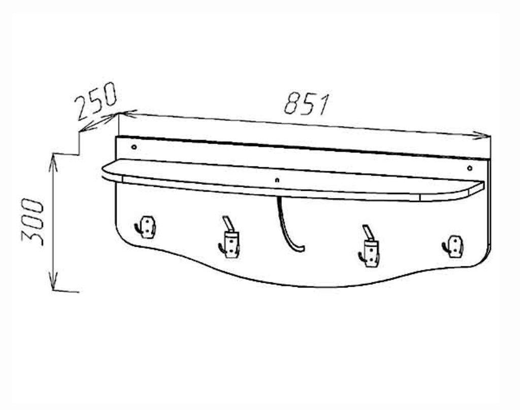 Мебель для прихожих, общее: Вешалка настенная (Линаура) в Стильная мебель